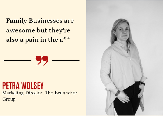 Family Business Forum at the Merchant 27th March 2019 with keynote speaker, Petra Wolsey - Marketing Director of The Beannchor Group